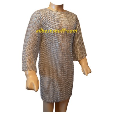 Aluminum Maille Shirt Flat Solid Ring Chest 50 Long Sleeve
