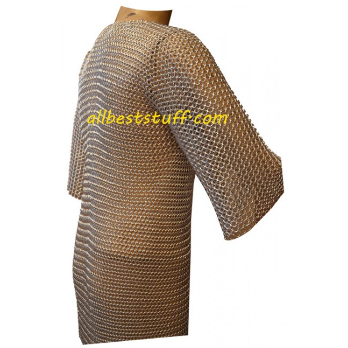 Chainmaille Hauberk Butted Aluminum Chest 50