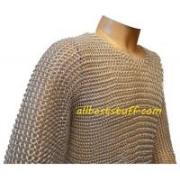 Butted Aluminium Chain Mail Shirt Chest 30