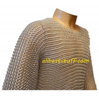Butted Aluminium Chain Mail Shirt Chest 30
