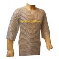 Medium Sleeve Butted Aluminum Chain Mail Armour XXL Chest 60