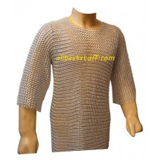Medium Sleeve Butted Aluminum Chain Mail Armour XXL Chest 60