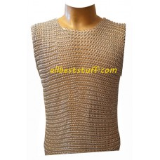 Sleeveless Butted Aluminum Chain Mail for Kids Chest 32