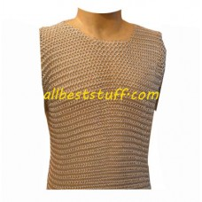 Sleeveless Chain Mail Short Top for Female Ennactor Chest 36