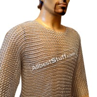 Large Aluminum Butted Chain Mail Shirt Chest 40 Short Length