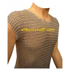 Sleeveless Aluminium Chain Mail Shirt Long Chest 38