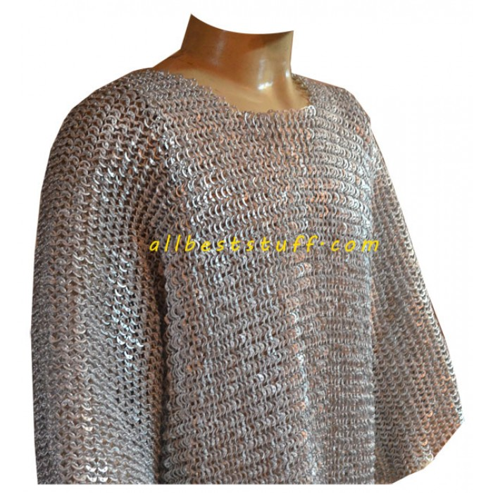 Aluminum Chain Mail for LARP Flat Riveted Chest 48