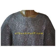 Flat Riveted Aluminum Chain Mail Hauberk Chest 36