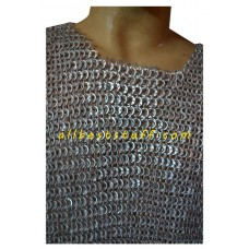 Sleeveless Aluminum Chain Mail Hauberk Flat Riveted Chest 42
