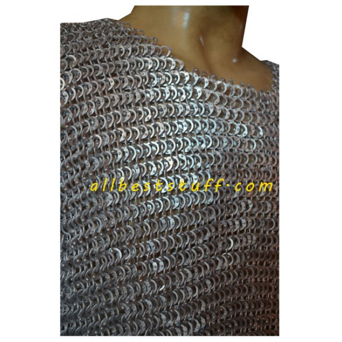 Aluminum Chain Mail Hauberk Full Riveted Pin Chest 42 Long