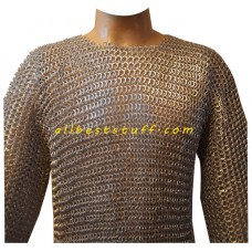 Full Sleeve Round Riveted Flat Solid Aluminum Maille Chest 45