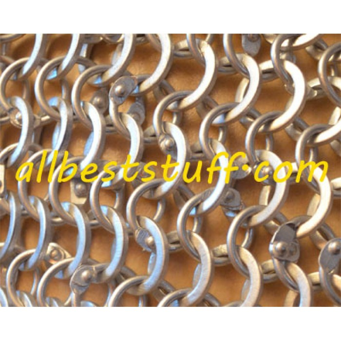 Aluminum Maille Hauberk Round Rivet Alternating Solid Chest 55