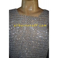Aluminum Round Riveted Chain Mail Sleeveless Chest 36