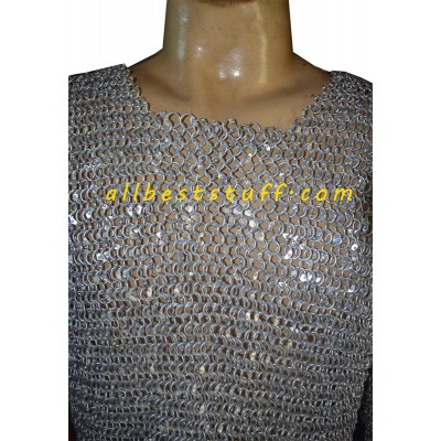 Sleeveless Aluminum Round Riveted Chain Mail Chest 40