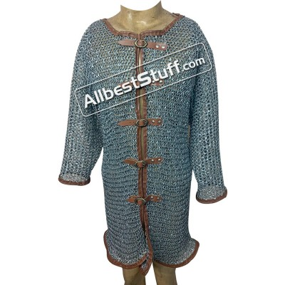 Aluminum Chain Mail Shirt Full Round Riveted Maille Chest 50