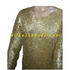 Pin Riveted Brass Maille Made from Brass Rings Chest 40