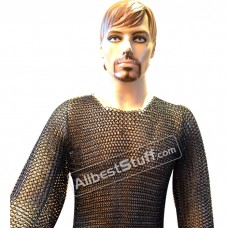 Butted Chain Mail Shirt Maille Medium Large Long Sleeve Chest 36