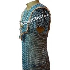 Butted Steel Chain Mail Roman Hamata XL Length Chest 50