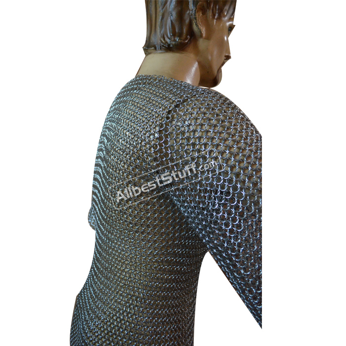Chain Mail Shirt with Butted Rings 10 mm Chest 34 Length 34