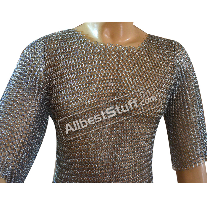 Chainmail Hauberk Butted Steel Armour XL Shirt Chest 48