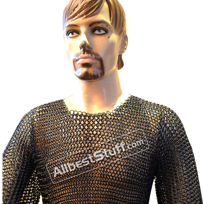 Chainmaille Hauberk Butted Armour Steel Links XXL Chest 50