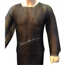 Steel Chain Mail Shirt Butted Rings for Chest 44 Long Full Sleeve