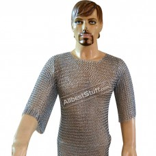 Butted Chain Mail Shirt Small Medium Maille Armour for Kids Chest 25