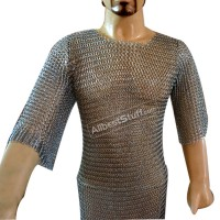 Butted Chain Mail Shirt Medium Large Long Chest 30 Length 36