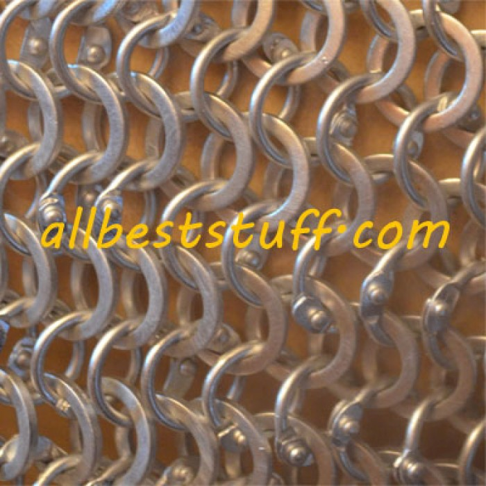 Aluminum Maille Dome Round Riveted Alternating Solid Chausses