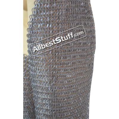 Aluminum Maille Legging Round Riveted Alternating Solid