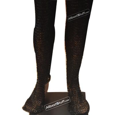 Dense Chain Mail Leg Protection Medium Chausses 6 MM