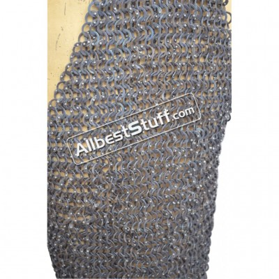 Flat Riveted Stainless Steel Chainmail Chausses Length 38