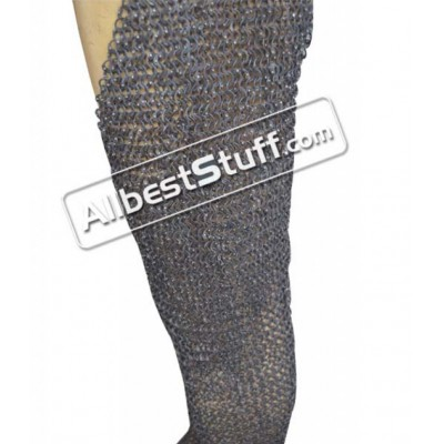 Flat Riveted Stainless Steel Chainmail Legging Large Length 42