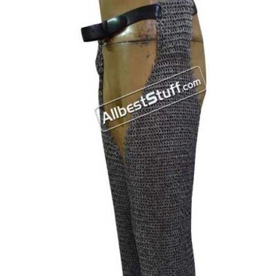 Full Flat Riveted Stainless Steel Maille Legging Length 34