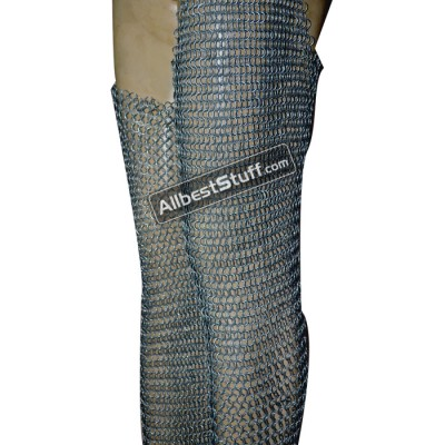 Large Butted Maille Legging 16 Gauge Leg Protection