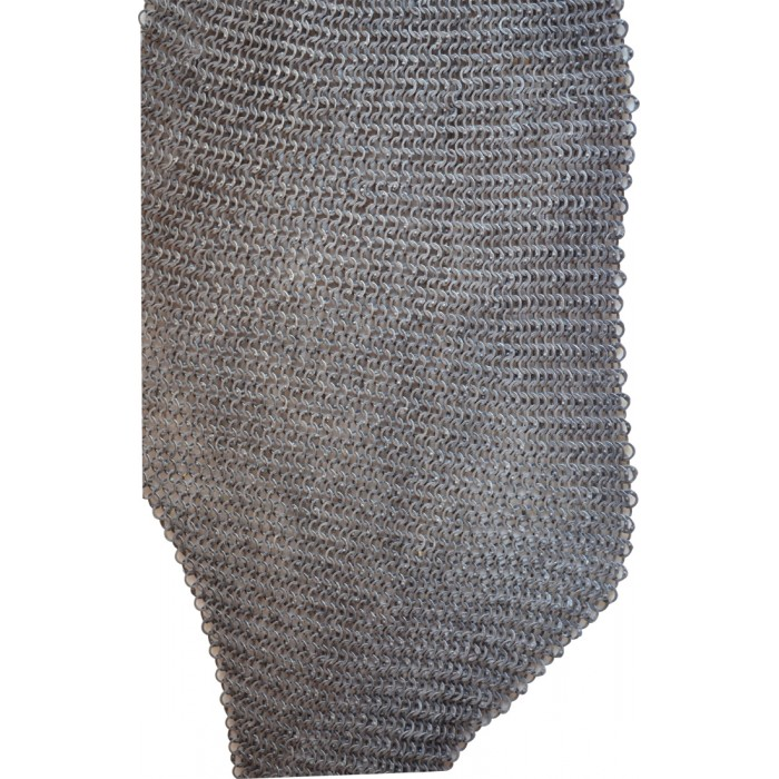 Aluminum Antique Finish Chain Mail Chausses Round Riveted Flat Solid