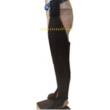 Flat Riveted Flat Solid Chain Mail Legging 9 MM Large 18G