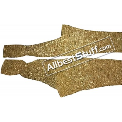 Round Riveted Brass Legging Dome Riveted Brass Chausses