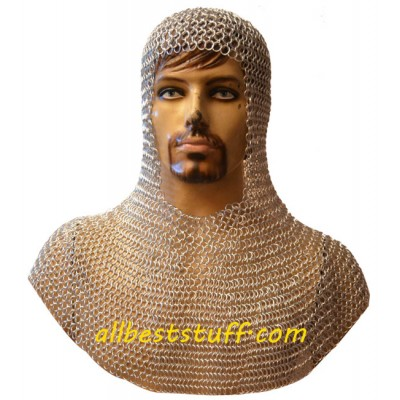 Aluminium Chain Mail Hood Butted Rings