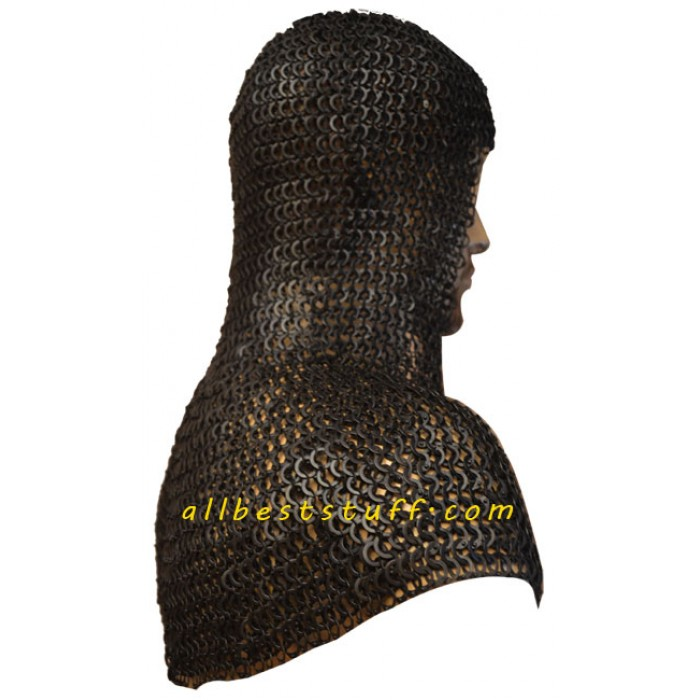 9 MM Full Flat Riveted Dome Riveted Chain Mail Hood