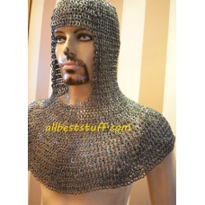 8 mm Full Flat Riveted Dome Riveted Chain Mail Coif