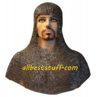 Stainless Steel Chain Mail Coif Authentic Rust Proof Chainmail Hood