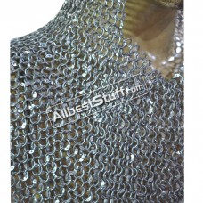 Round Riveted Aluminum Chain Mail Hood 10 mm