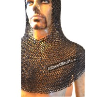 8 mm Round Riveted with Flat Solid Ring Chain Mail Coif