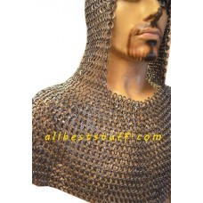 9 mm Round Riveted with Flat Washer Chain Mail Hood