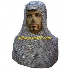Aluminium Flat Riveted Chain Mail Hood