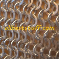 Aluminum Round Riveted Flat Solid Chain Mail Hood