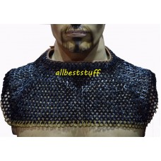 Flat Riveted Solid Chain Mail Collar Small