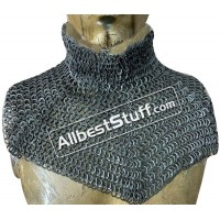 Medieval Stylish Chain Mail Collar with high neck