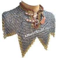 Round Dome Riveted Maille Collar Steel